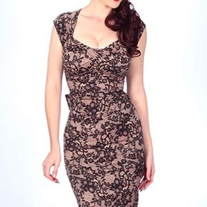 Stop Staring Love Lace Wiggle Dress